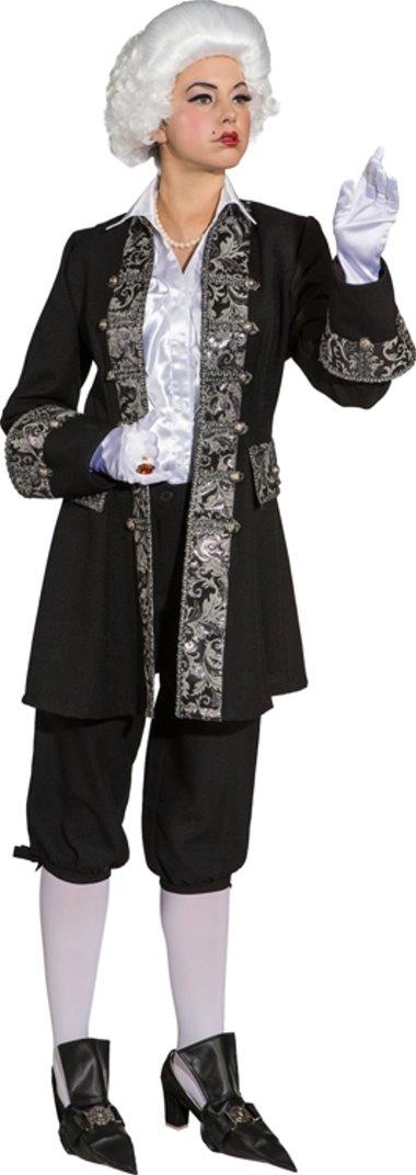 historische jacke kostüm schwarz